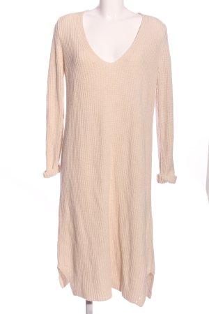 TwinSet Simona Barbieri Robe pull blanc cassé torsades style décontracté
