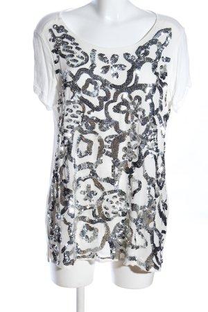 TwinSet Simona Barbieri T-Shirt weiß Motivdruck Casual-Look