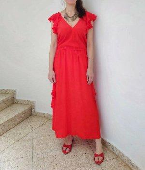 Twinset, Sommerkleid aus Seide / Viskose Mischung, Volants, romantisch, passend von 34-38