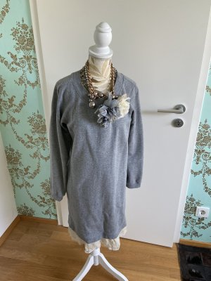 Twinset Sweatshirt Kleid mit Seidenblumen