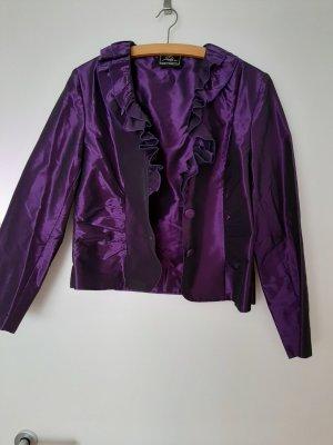 Ensemble tissé violet-violet foncé polyester