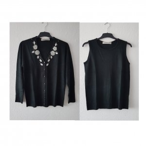 Cashmasoft Twin Set tipo suéter black-silver-colored