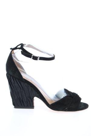 Twinset Sandalo a zeppa nero elegante