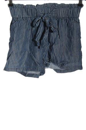 Twintip High-Waist-Shorts blau-weiß Allover-Druck Casual-Look