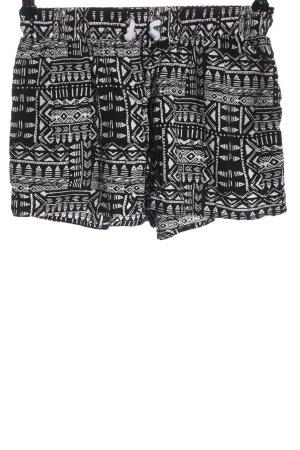 Twintip Krótkie szorty czarny-biały W stylu casual