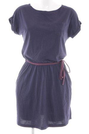 Twintip Jerseykleid dunkelblau-brombeerrot Casual-Look