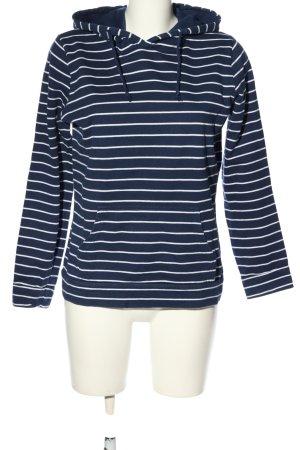 Twintip Maglione con cappuccio blu-bianco stampa integrale stile casual