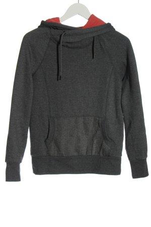 Twintip Felpa con cappuccio grigio chiaro puntinato stile casual