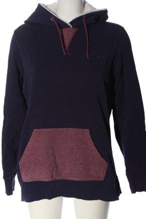 Twintip Felpa con cappuccio blu-rosso puntinato stile casual