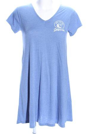 Twintip Longshirt blau-weiß meliert Casual-Look