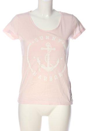Twintip Camicia fantasia rosa-bianco Stampa a tema stile casual
