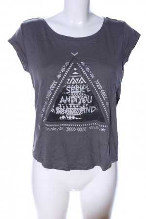 Twintip Print-Shirt hellgrau Motivdruck Casual-Look