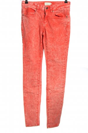 Twintip Skinny Jeans rot Farbverlauf Casual-Look