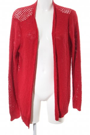 Twintip Strick Cardigan rot Zopfmuster Casual-Look