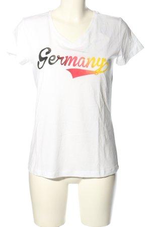 Twintip T-Shirt weiß Schriftzug gedruckt Casual-Look