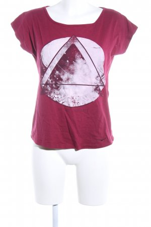Twintip T-Shirt pink Allover-Druck Casual-Look