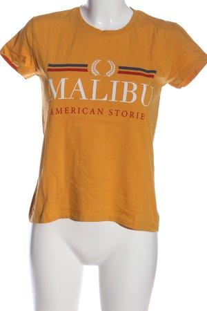 Twintip T-Shirt Schriftzug gedruckt Casual-Look