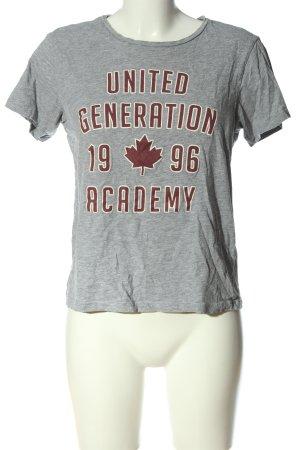 Twintip T-Shirt hellgrau-rot Motivdruck Casual-Look