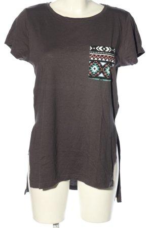 Twintip T-shirt marrone stile casual