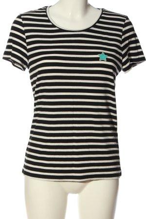 Twintip T-Shirt schwarz-weiß Streifenmuster Casual-Look
