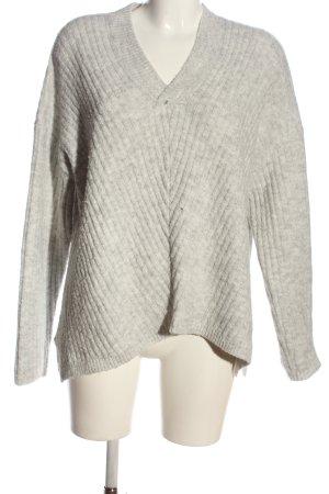 Twintip Maglione con scollo a V grigio chiaro puntinato stile casual