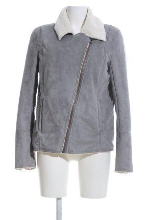 Twist & Tango Giacca in ecopelle grigio chiaro-bianco sporco stile casual