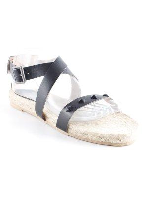 Twist & Tango Riemchen-Sandalen schwarz-hellbeige Beach-Look