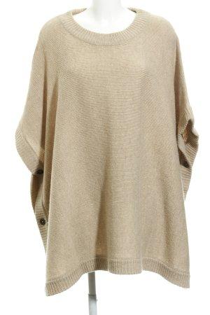 Twist & Tango Poncho in maglia beige Bottoni in metallo
