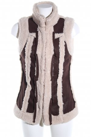 Biker Vest brown-natural white casual look