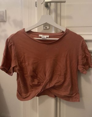 Urban Outfitters Top o skróconym kroju ciemny pomarańcz-rudy