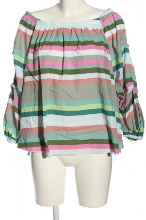 Two blue Sisters Carmen Shirt striped pattern casual look