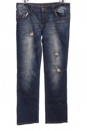 two days later Straight-Leg Jeans blau Casual-Look