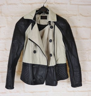 LIMITED EDITION Biker Jacket black-oatmeal