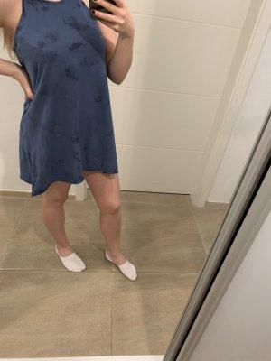 yfl RESERVED Robe découpée bleu foncé-bleu azur
