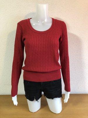 U-Boot Basic Roter Pullover Pulli Sweatshirt Sweat  Strickpullover Gr.36/38