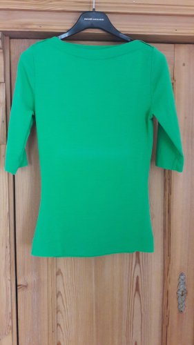 René Lezard Boothalsshirt groen Katoen