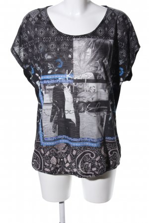 U-Boot-Shirt grafisches Muster Casual-Look