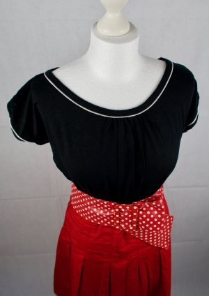 Opus Boothalsshirt zwart-wit Viscose