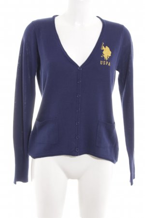 U.s. polo assn. Cardigan blau-blassgelb Casual-Look