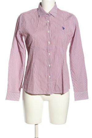 U.s. polo assn. Camicia blusa rosa-bianco caratteri stampati stile professionale
