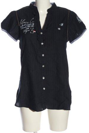 U.s. polo assn. Camicia blusa blu motivo a righe stile casual
