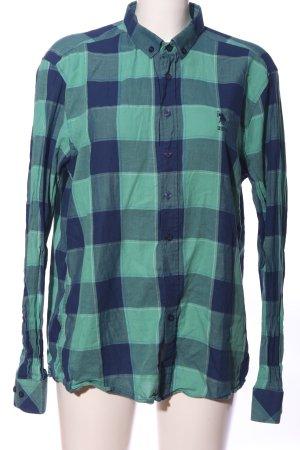 U.s. polo assn. Houthakkershemd blauw-groen geruite print casual uitstraling