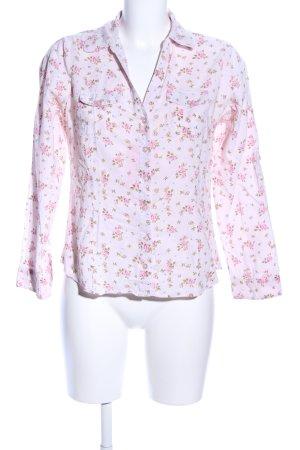 U.s. polo assn. Langarm-Bluse pink-grün Blumenmuster Casual-Look