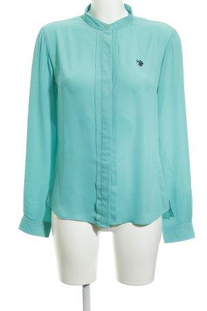U.s. polo assn. Langarm-Bluse türkis schlichter Stil