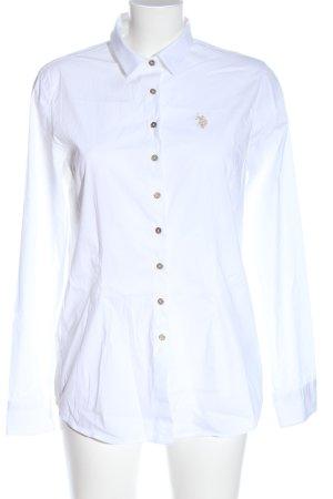 U.s. polo assn. Camicia a maniche lunghe bianco stile professionale