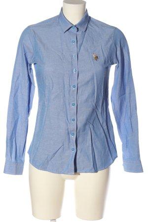 U.s. polo assn. Camicia a maniche lunghe blu stile professionale