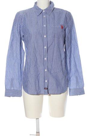 U.s. polo assn. Camicia a maniche lunghe blu-bianco motivo a righe