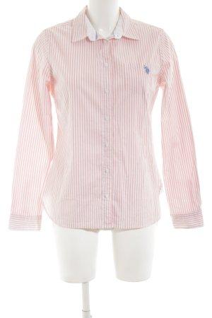 U.s. polo assn. Langarmhemd pink-weiß Streifenmuster Casual-Look