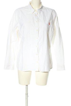 U.s. polo assn. Camicia a maniche lunghe bianco caratteri ricamati