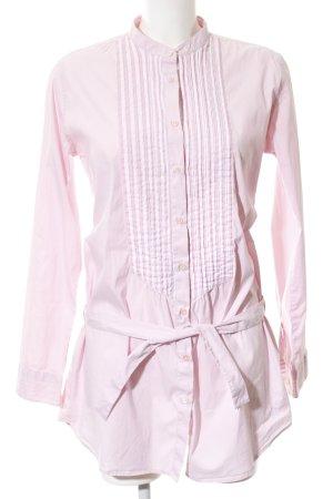 U.s. polo assn. Camicia a maniche lunghe rosa motivo a righe elegante